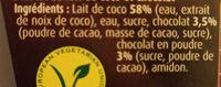 Dessert gourmand chocolat lait de coco - Ingrediënten - fr