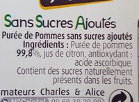 Compote de pommes - Ingredients - fr
