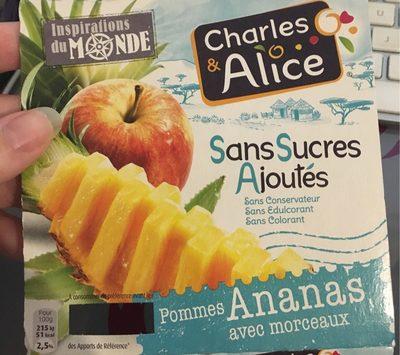 Pommes Ananas sans sucres ajoutés - Produit