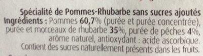 Compote Pomme Rhubarbe - Ingrédients - fr