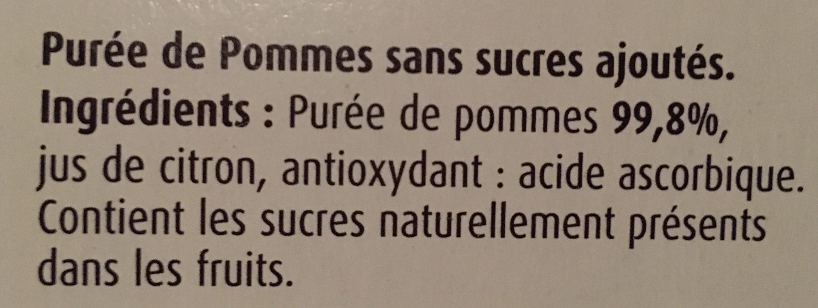 Pomme Sans Sucre Ajouté - Ingrédients - fr