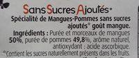 Pommes Mangues Sans Sucres Ajoutés - Ingredients