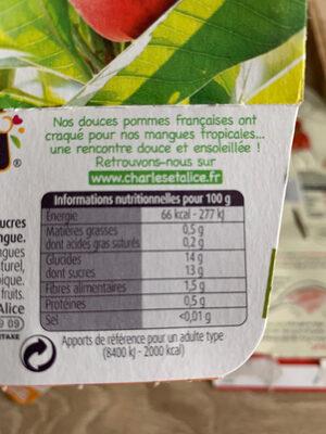 Pommes Mangues Sans Sucres Ajoutés - Ingrédients - fr