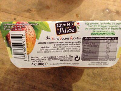 Pommes Mangues Sans Sucres Ajoutés - Informations nutritionnelles - fr