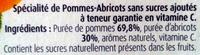 Pommes abricots bergeron - Ingrediënten