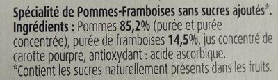 Pommes abricots bergeron SSA - Ingredientes - fr