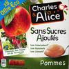 Pommes sans sucres ajoutés Charles & Alice - Produit
