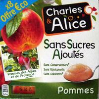 Pommes sans sucres ajoutés Charles & Alice - Produit - fr