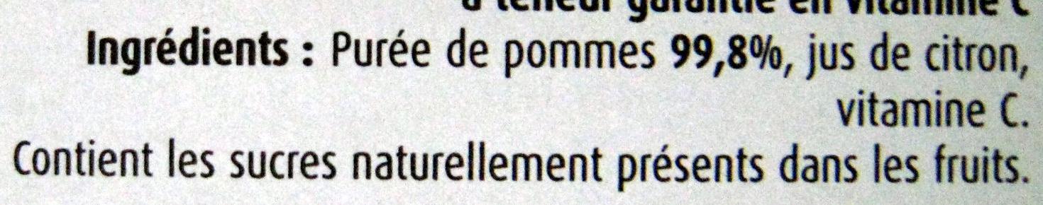 Pommes sans sucres ajoutés Charles & Alice - Ingrédients - fr