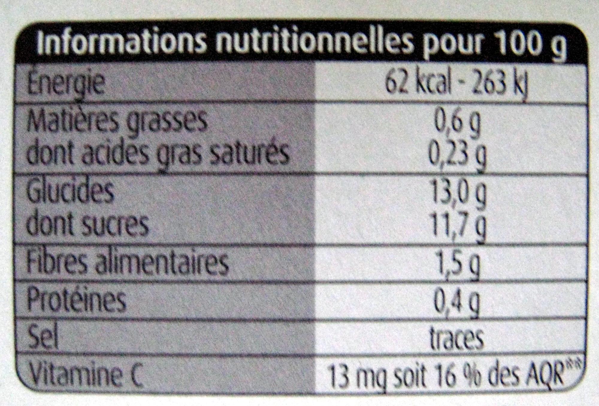 Pommes sans sucres ajoutés Charles & Alice - Informations nutritionnelles - fr