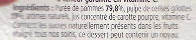 Pommes Cerises Sans Sucres Ajoutés - Ingrediënten