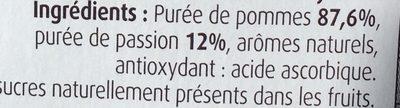 Pommes Passion Sans Sucres Ajoutés - Ingrédients - fr