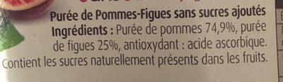 Compote pommes figues sans sucre ajoute - Ingrédients