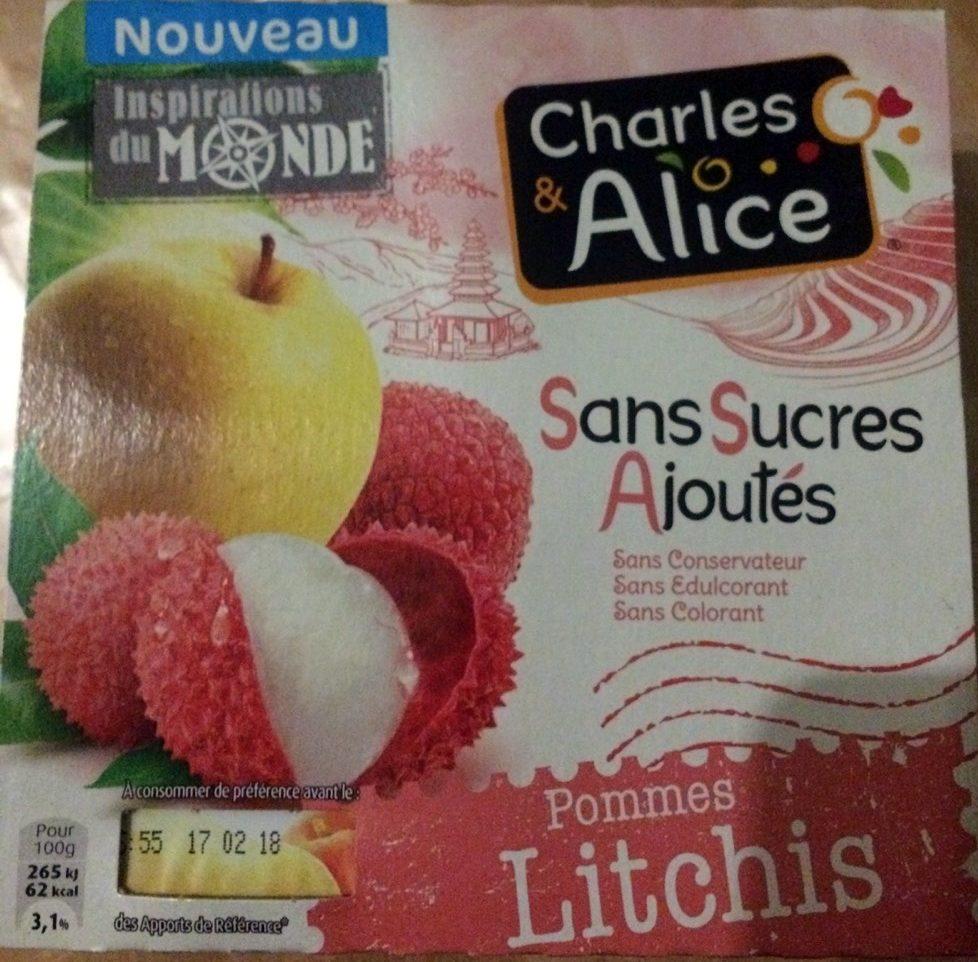 Pommes Litchis Sans Sucres Ajoutés - Produit