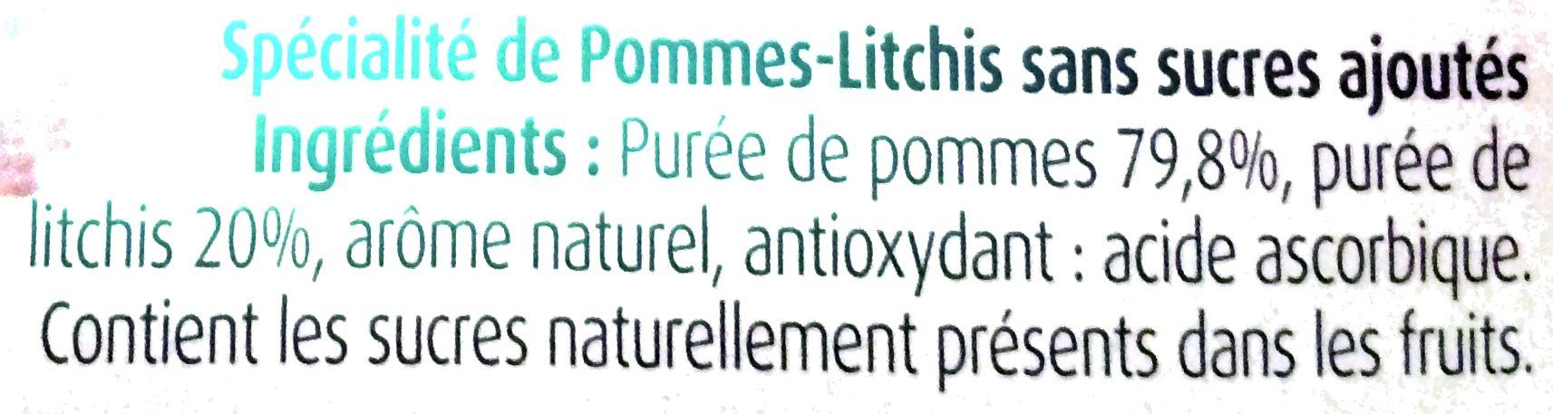 Pommes Litchis Sans Sucres Ajoutés - Ingrédients