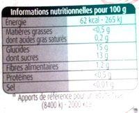 Pommes Litchis Sans Sucres Ajoutés - Informations nutritionnelles