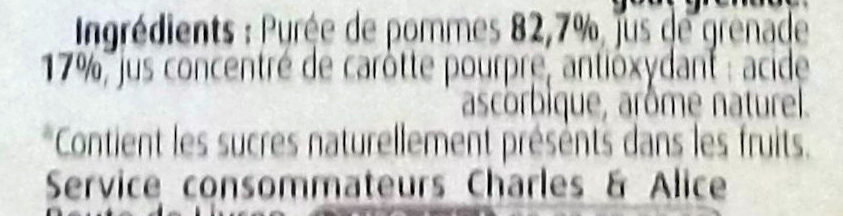 Pommes grenades - Ingredienti - fr
