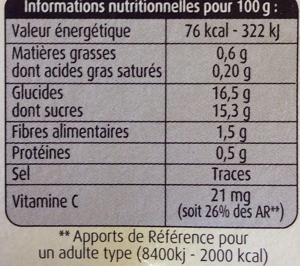 Pommes, Fraises Mara des Bois - Nutrition facts - fr