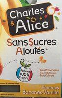 Pommes bananes vanille - Produit - fr