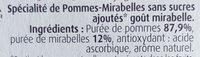 Pommes Mirabelles SSA - Ingrédients - fr
