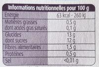 Pommes Mirabelles SSA - Informations nutritionnelles - fr