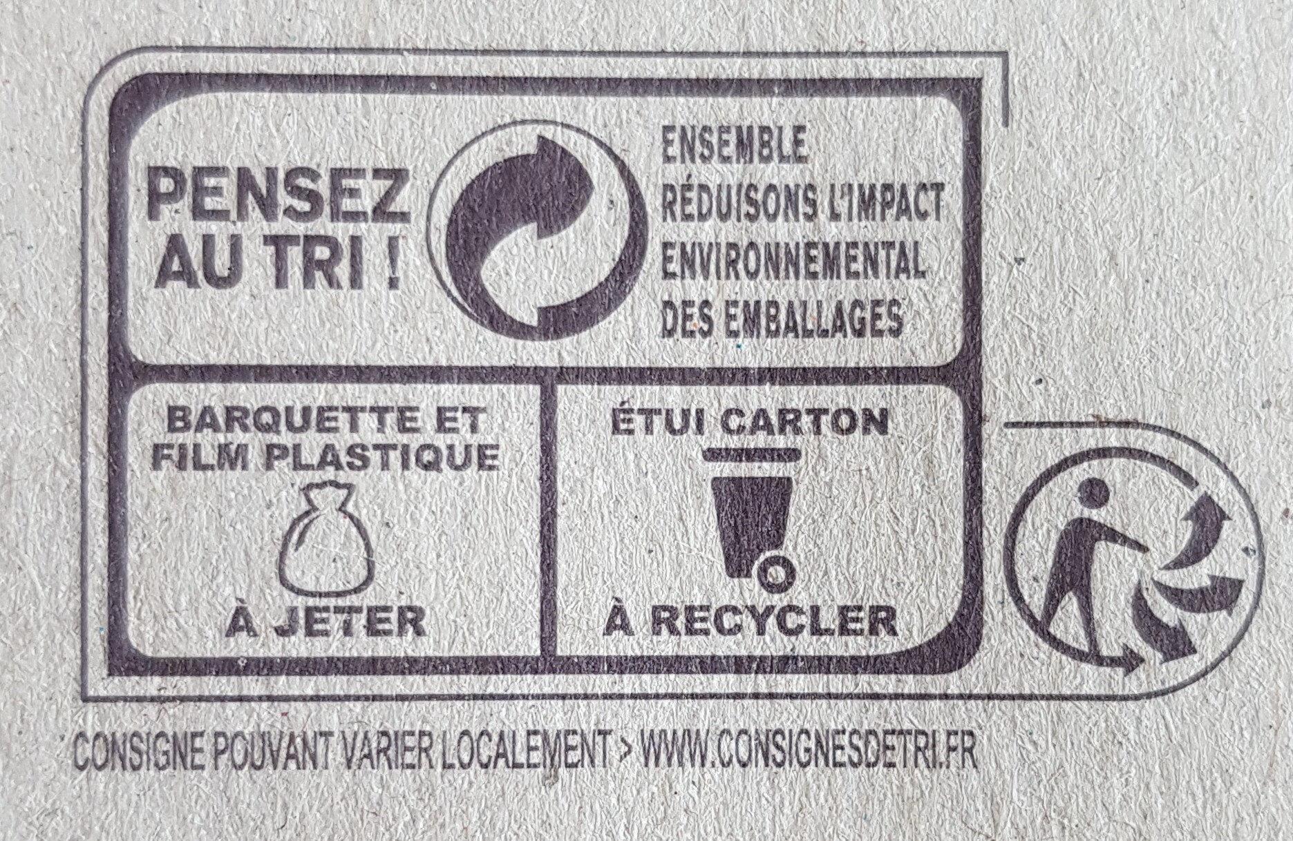 Pommes Mirabelles SSA - Instruction de recyclage et/ou informations d'emballage - fr