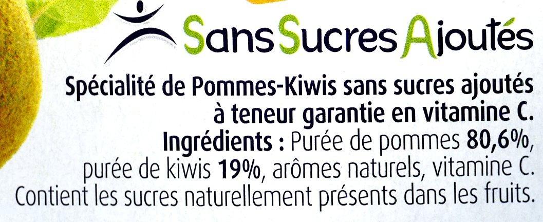 Pommes kiwis sans sucres ajoutés - Ingrédients