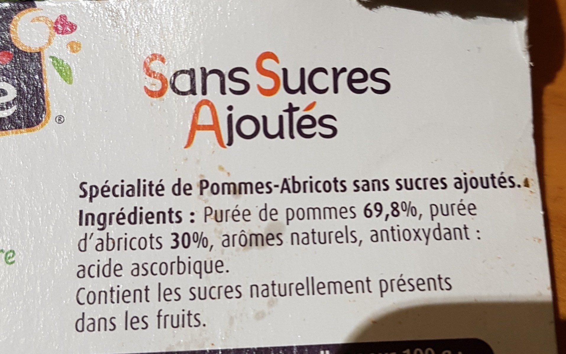 Charles & Alice pommes abricots - Ingrediënten - fr
