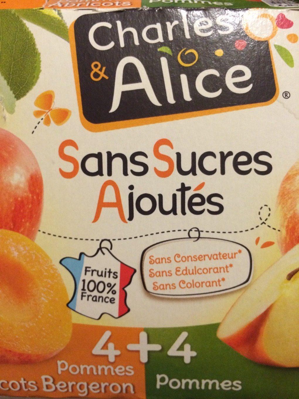 Dessert fruitier pomme abricot Charles & Alice + pomme x4 - Produit - fr