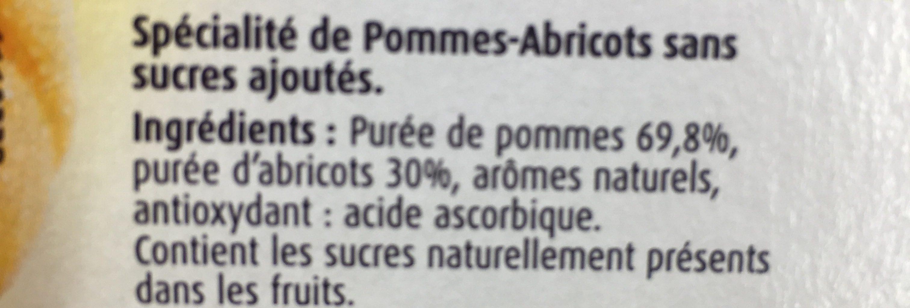 Dessert fruitier pomme abricot Charles & Alice + pomme x4 - Ingrédients - fr