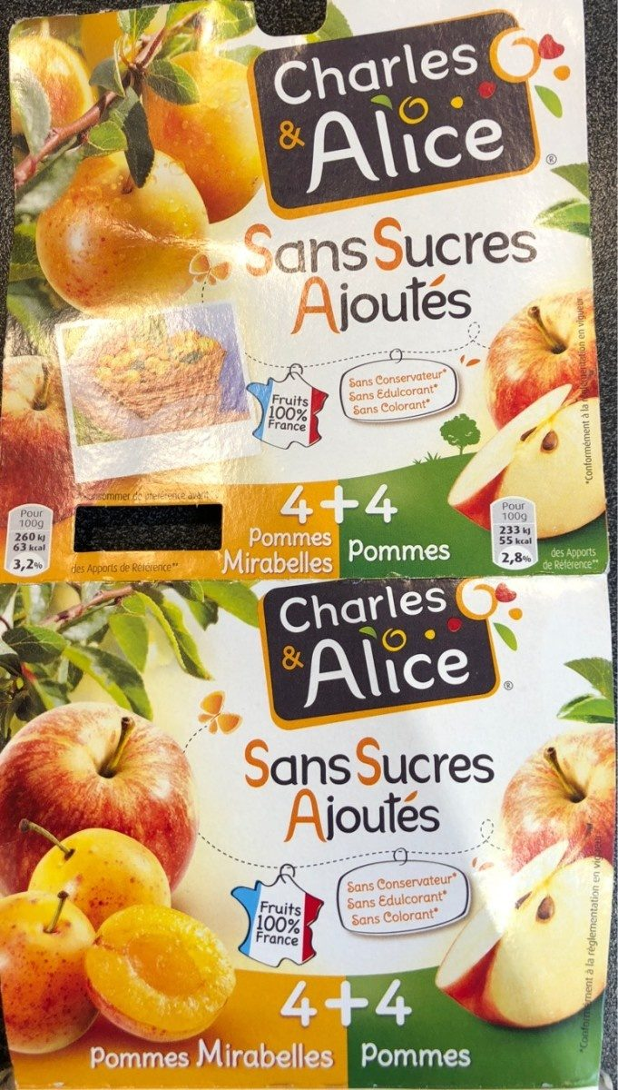 Dessert fruitier Charles&Alice pomme/mirabelle s/sucre - Product