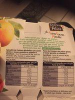 Dessert fruitier Charles&Alice pomme/mirabelle s/sucre - Ingrediënten
