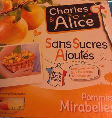 Spécialité de pommes mirabelles sans sucres ajoutés - Produit