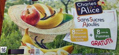 Compotes Pommes Bananes Vanille et Pommes Sans Sucres Ajoutés - Produit - fr