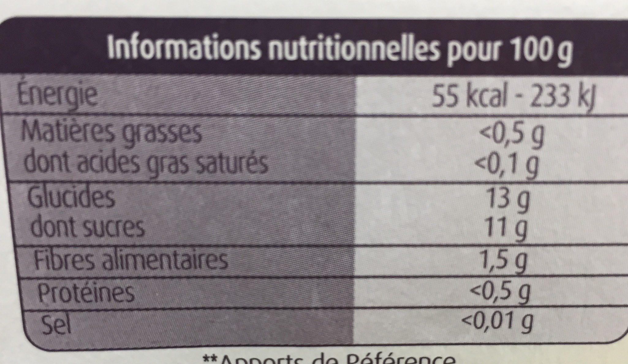 Pomme nature sans sucre ajouté - Informations nutritionnelles - fr