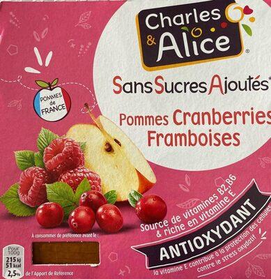 Spécialités de Pommes, Cranberries et Framboises - Produit - fr