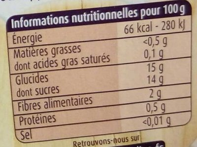 Pommes Framboises - Nutrition facts