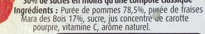 Sélection Pommes, Fraises Mara des Bois - Ingrédients