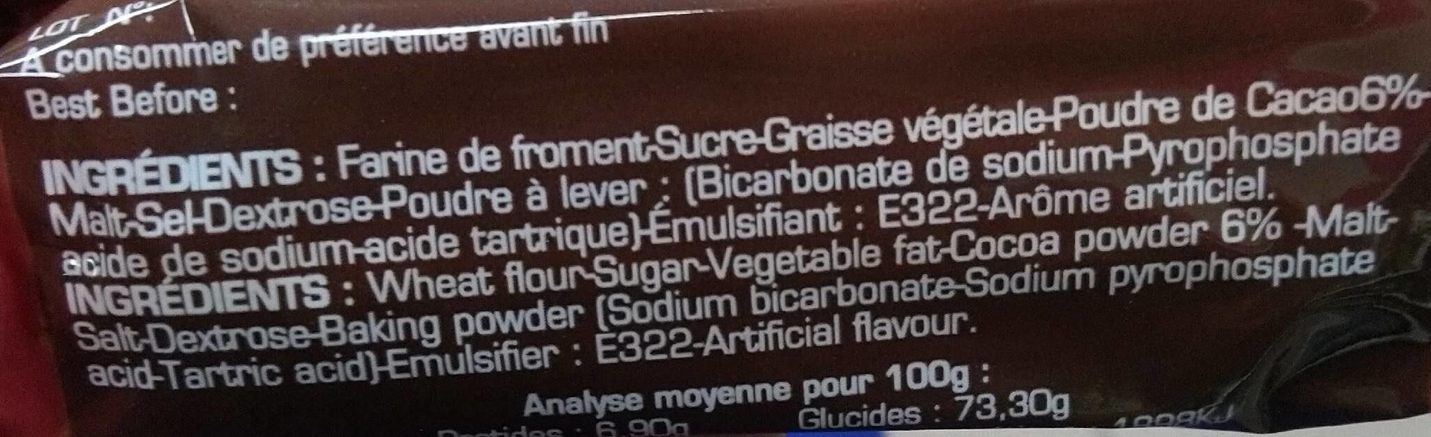 Super choco - Ingrediënten