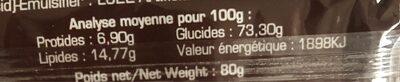 Super choco - Voedigswaarden