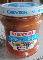 Confiture allegee mirabelles quetsches - Produit - fr