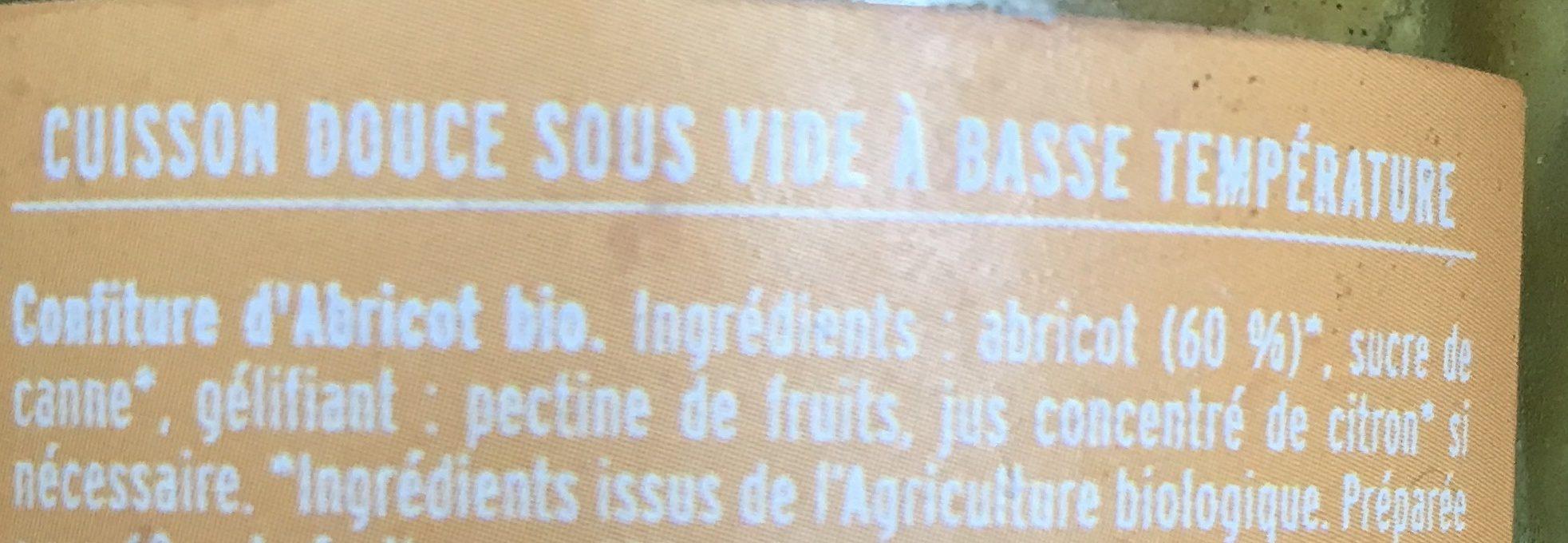 Abricot / Confiture Extra / Confitures Bio - Ingrédients - fr