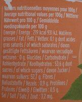 Abricot / Confiture Extra / Confitures Bio - Informations nutritionnelles - fr