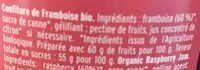 Framboise confiture extra - Ingrediënten