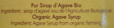 Sirop d'agave bio 690g - Ingrédients - fr