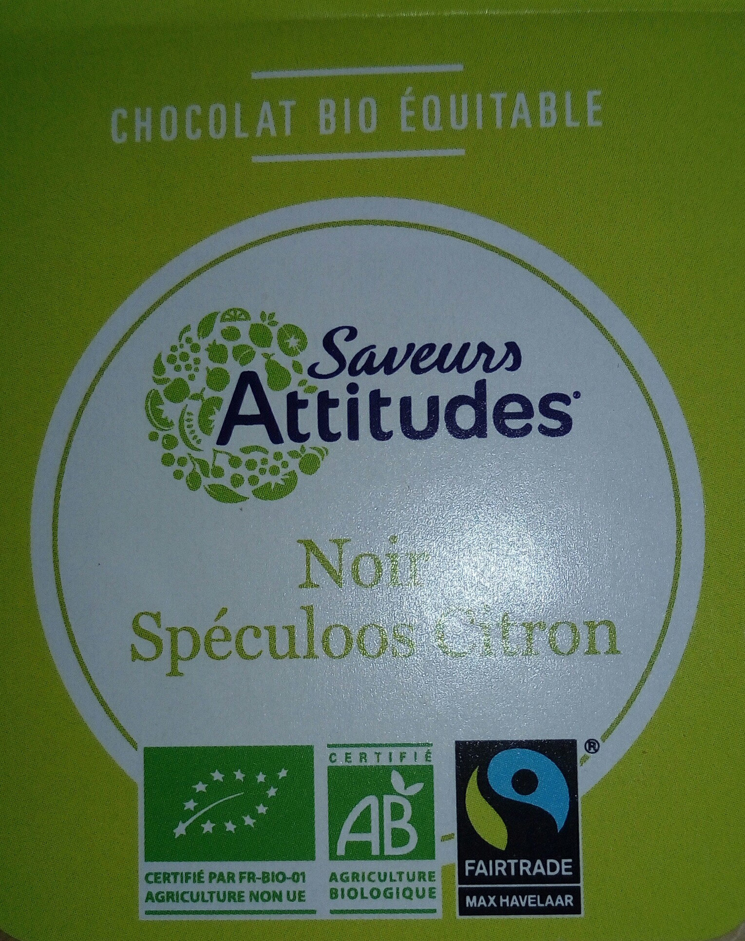 Chocolat noir spéculoos citron - Product - fr