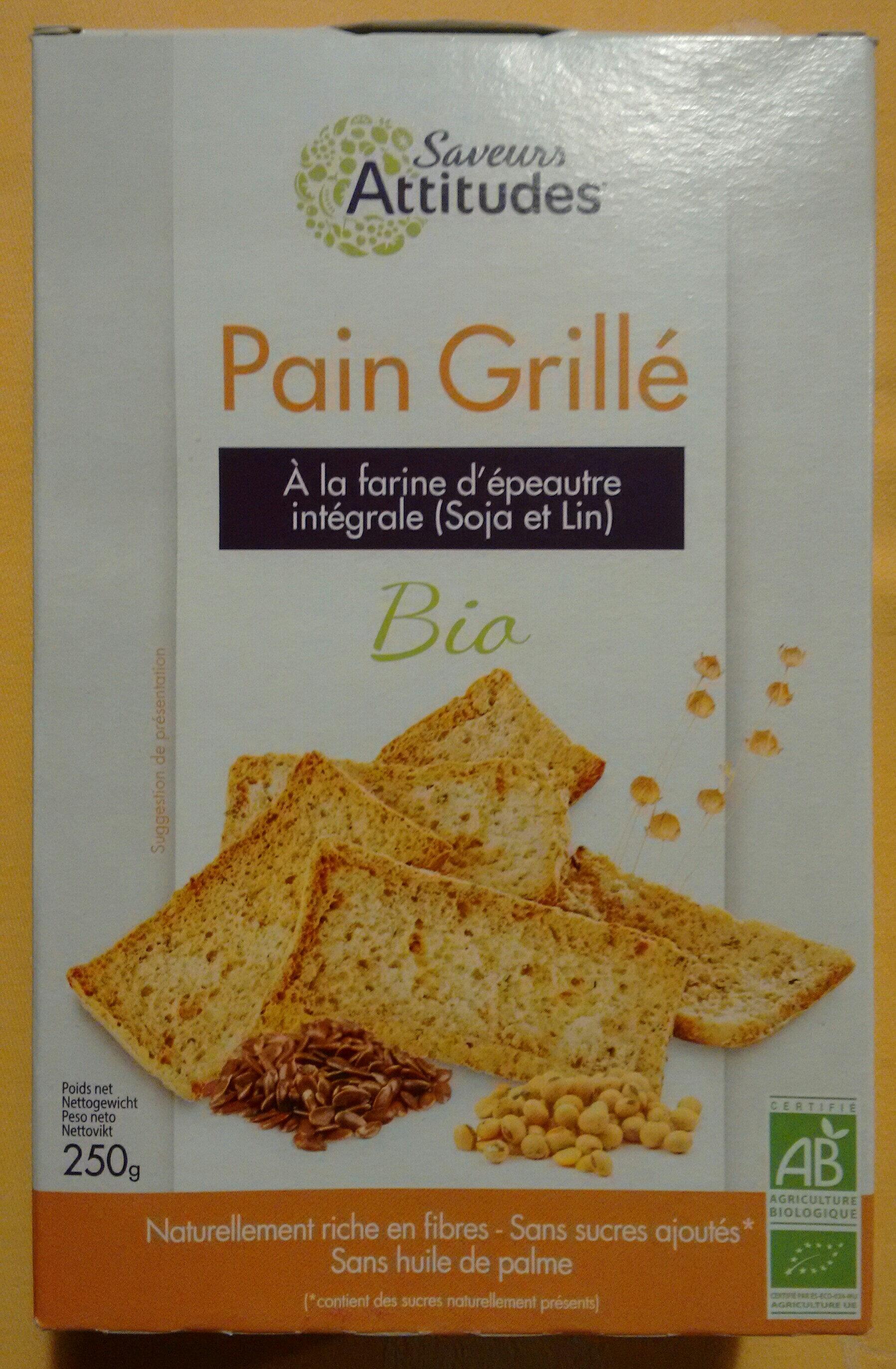 pain grillé à la farine d'épautre intégrale (Soja et Lin) - Product