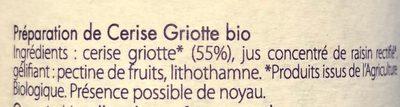 Preparation Fruit Cerise Griotte - Ingrediënten