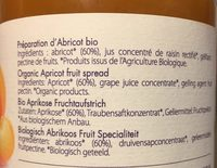 Confiture d abricot - Ingrédients - fr