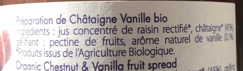 PREPARATION 100% FRUITS CHATAIGNE VANILLE - Ingrediënten - fr